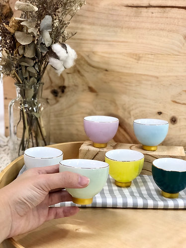 Tea cups set (6 colours)