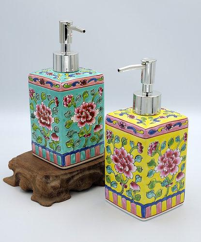 Peranakan shampoo bottle