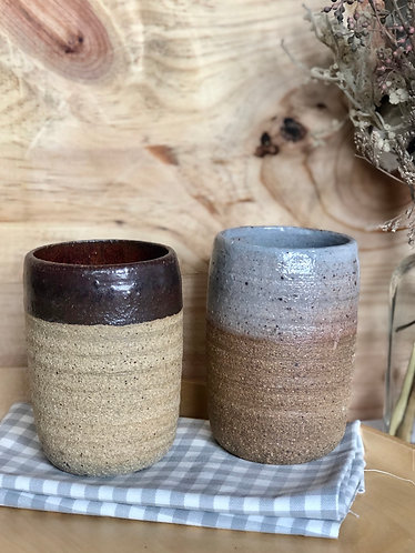 Dragon kiln fired tall cup (2 colours)