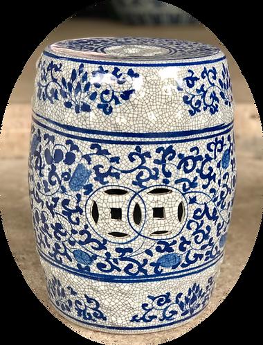 Blue & White Ceramics Stools (2 Designs)