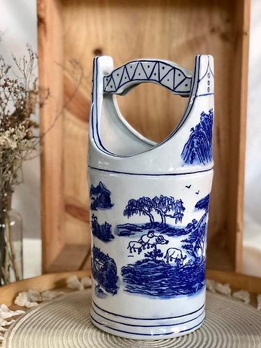 Blue & White Bucket