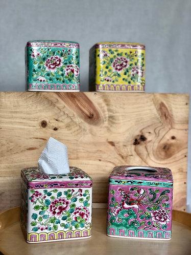 Peranakan tissue container  (4colours)
