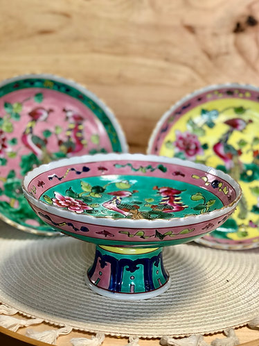 Peranakan fruit curved plate (3 colours x 2 sizes)