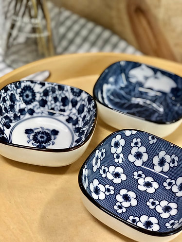 Square dish with prints (3 designs)