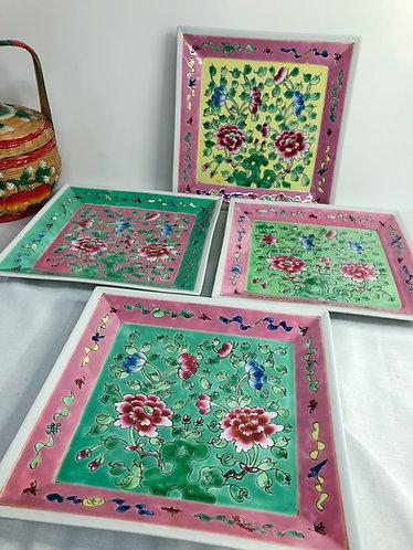 Peranakan Square Plate (4 colours)