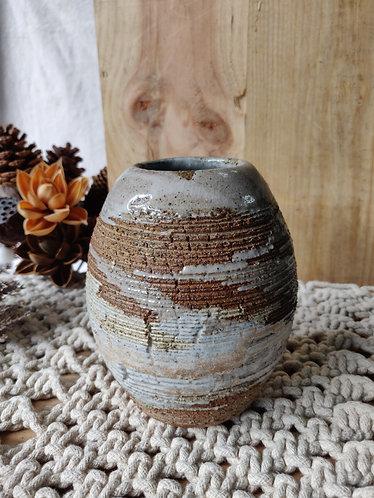 Variegated Shades Oval Vase