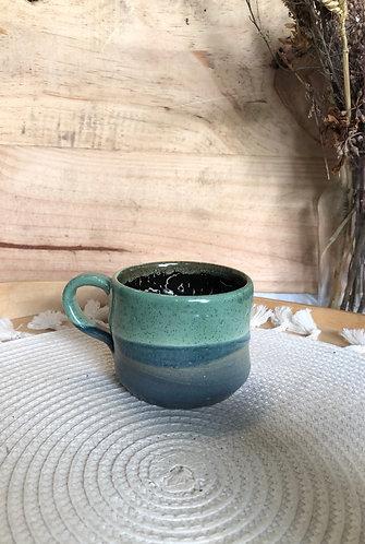 Crackled brown glaze cup