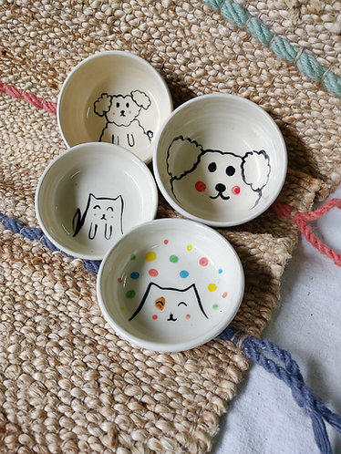 Doggy and Meow Plate (4 Designs)