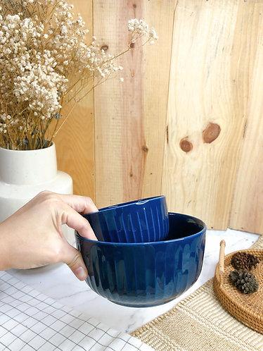 Carved stripes bowl (2 sizes)