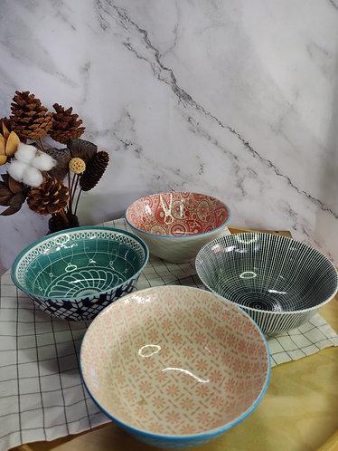 Double Pattern Ramen Bowl (4 designs)
