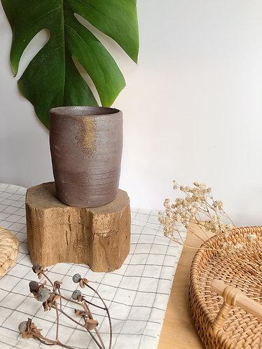 Dragon kiln fired x hint of ash vase