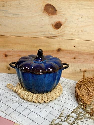 Pumpkin x blue glaze casserole