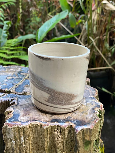 Marbled latte cup
