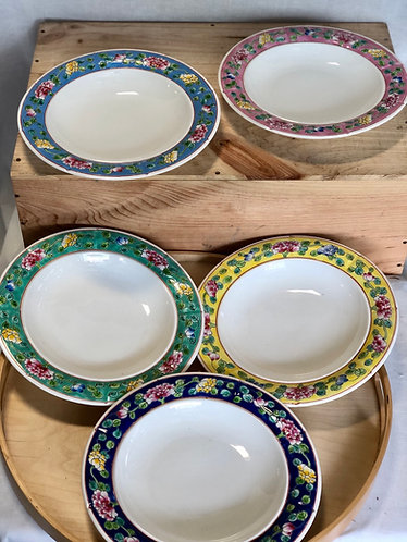 Peranakan plate  (5 colours)
