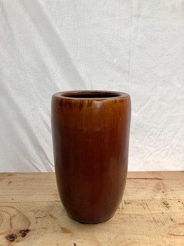 Outdoor brown tall pot