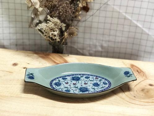 Peony oval shape dish