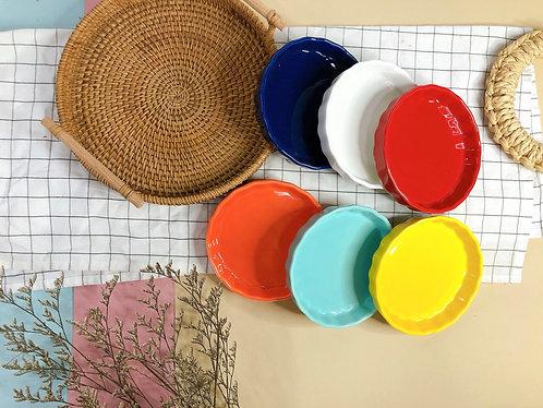 Round pie tray (6 colours)
