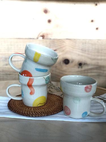 Handmade #colourmylife tall cup