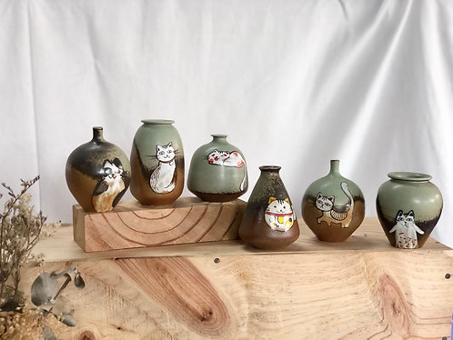 Meow mini vase #5 (6 designs )