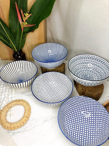 Blue and white Bowl ( 5 Designs)