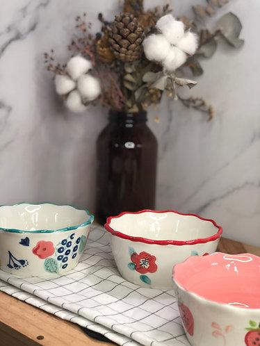 Colour my life | Floral rim bowl  (3 colours)