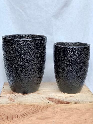 Outdoor black tall pot  (2 sizes)