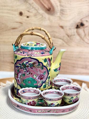 Peranakan Teapot Set #D