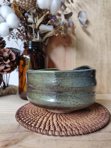 Shades of Green Freeform Bowl