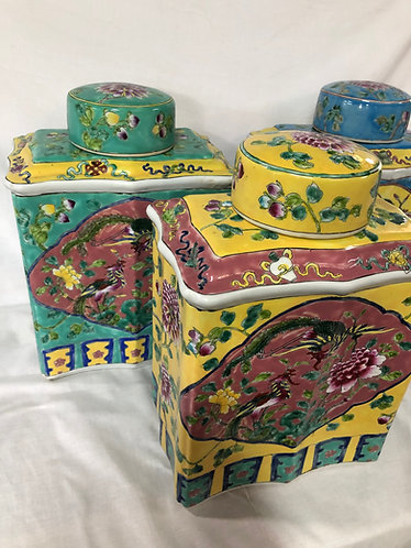Peranakan rect. temple jar (3 colours)