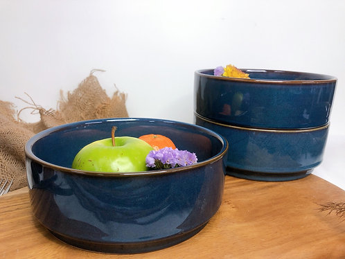 Stackable galaxy blue bowl