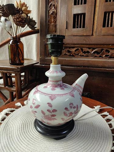 Pink Floral Teapot Lamp