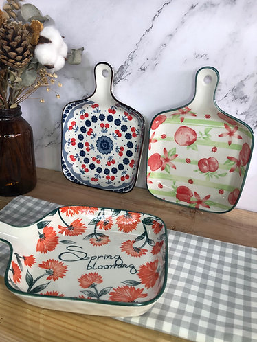 Pan-shape plate (3 designs)