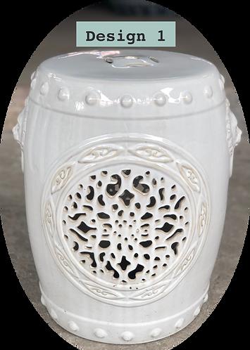 White Ceramics Stools (7 designs)
