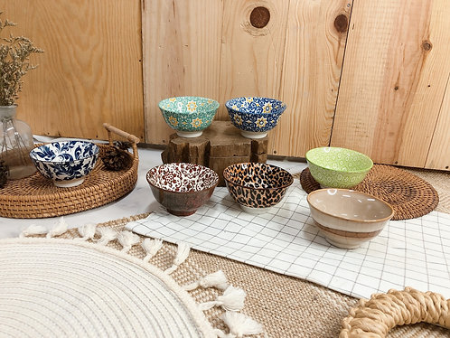 Double pattern x ice cream bowl (7 designs)