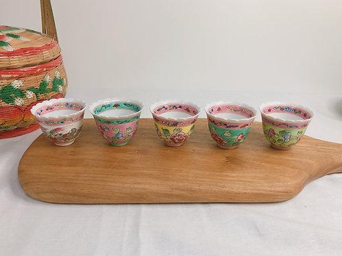 Peranakan full peony x  teacup (4 colours)