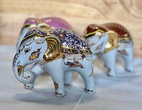Peranakan inspired elephant figurine (3 colours)