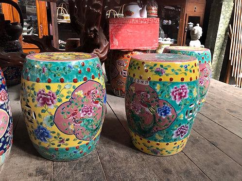 Peranakan ceramics stool (2 colours)