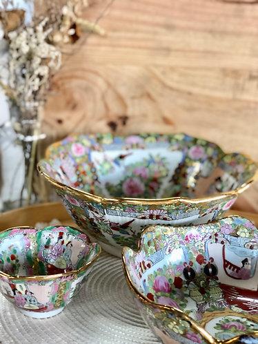 Gold x coloured bowl (3 sizes)