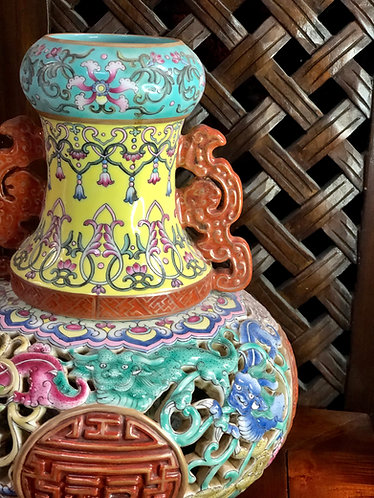 Handpainted 2 layers vase (Limited Ed)