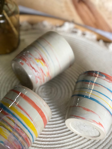 Colourful marbling cup (3 designs)