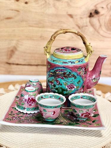 Peranakan Teapot Set #D (5 colours)