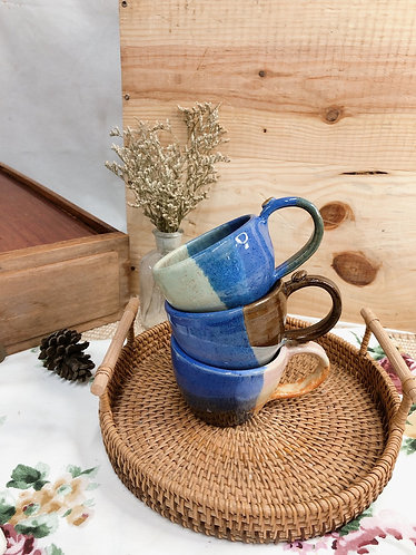 170ml-179ml | Blueish cup with bean ( 3 designs)