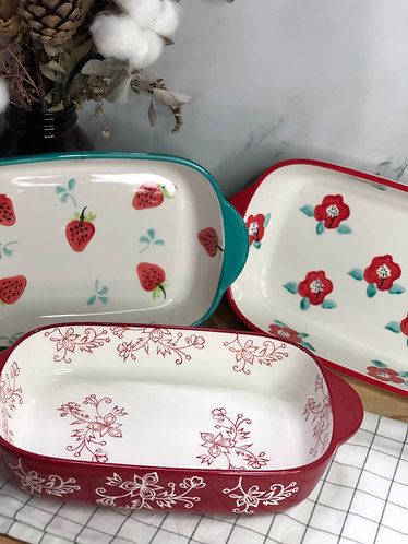 Colour my life | Rect. baking dish (3 designs)