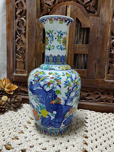 Blue Vibrant Forest Vase