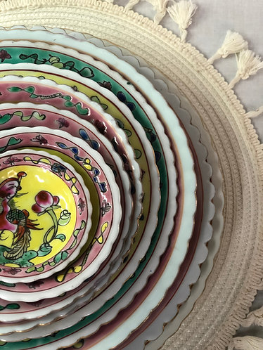 Peranakan round plate (10 sizes)