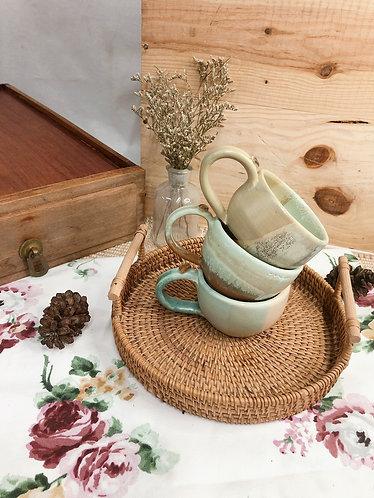 161ml - 169ml | Matt x vintage cup with bean ( 3 designs)