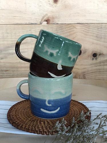 Handmade smiley cup