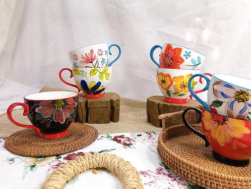 Floral x tall leg cup (7 Designs)