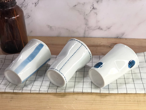 Hand painted x paper cup (3 designs)