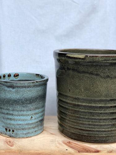 Outdoor glazed pot  (5 sizes)